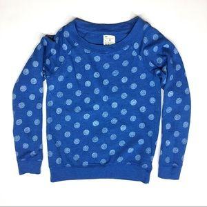 Gap Blue Sweatshirt Sweater Polka Dot Long Sleeve